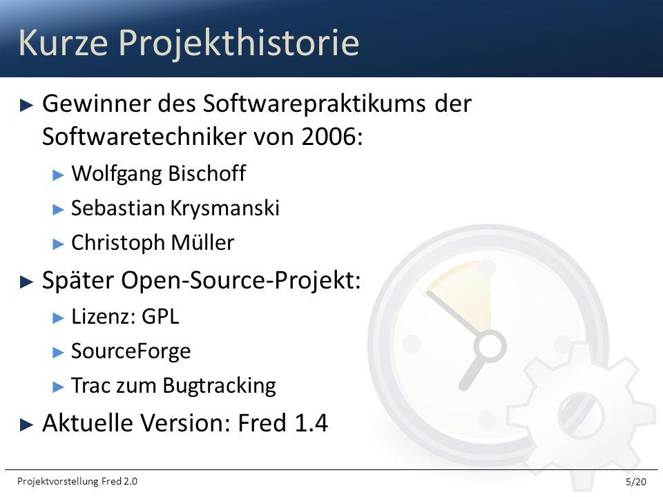 Gewinner des Softwarepraktikums der Softwaretechniker von 2006: Wolfgang Bischoff Sebastian Krysmanski Christoph Müller Später Open-Source-Projekt: Li