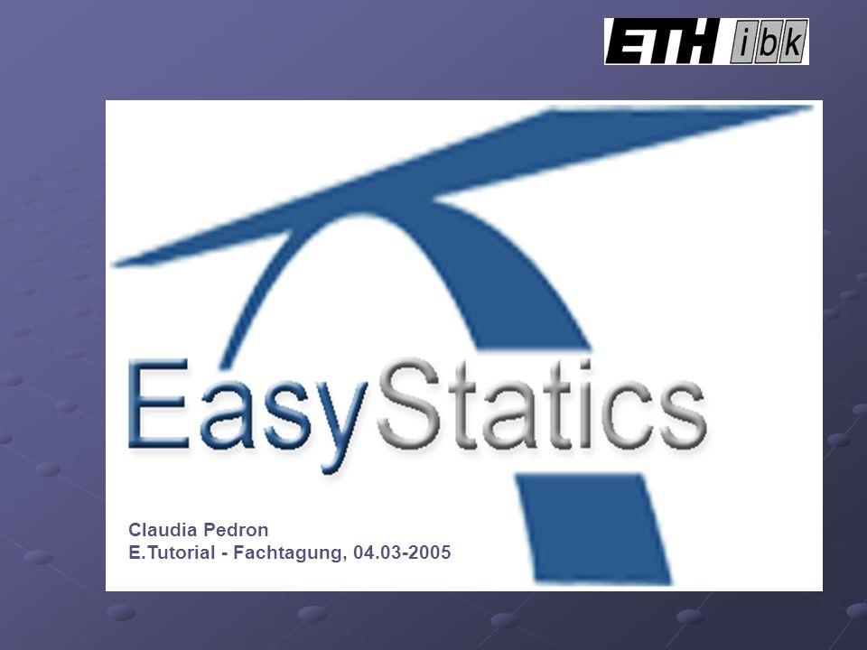 Claudia Pedron E.Tutorial - Fachtagung, 04.03-2005