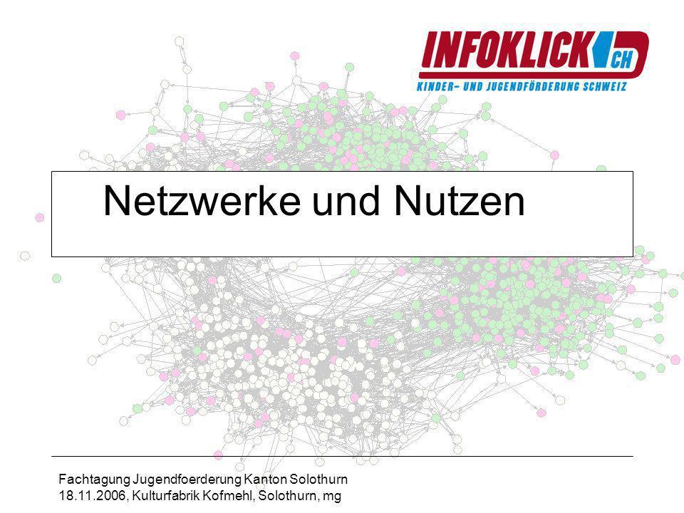 Fachtagung Jugendfoerderung Kanton Solothurn 18.11.2006, Kulturfabrik Kofmehl, Solothurn, mg Netzwerke und Nutzen