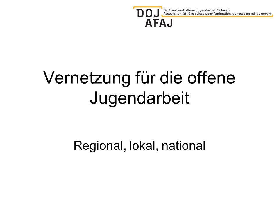 Vernetzung für die offene Jugendarbeit Regional, lokal, national