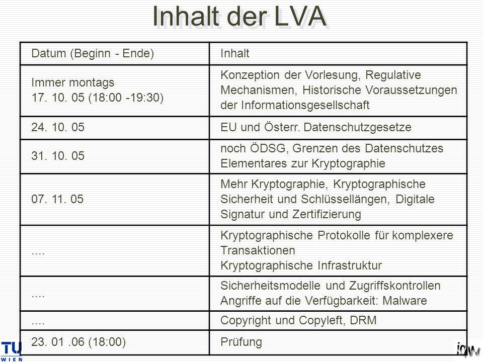 Datum (Beginn - Ende)Inhalt Immer montags 17. 10.