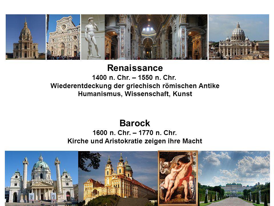 Renaissance 1400 n.Chr. – 1550 n. Chr.