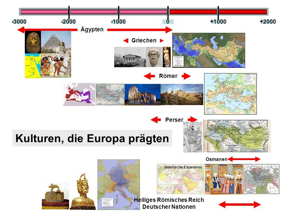 -10000-2000-3000+1000+2000 Ägypten Griechen Römer Perser Osmanen Kulturen, die Europa prägten Islamische Expansion Heiliges Römisches Reich Deutscher Nationen