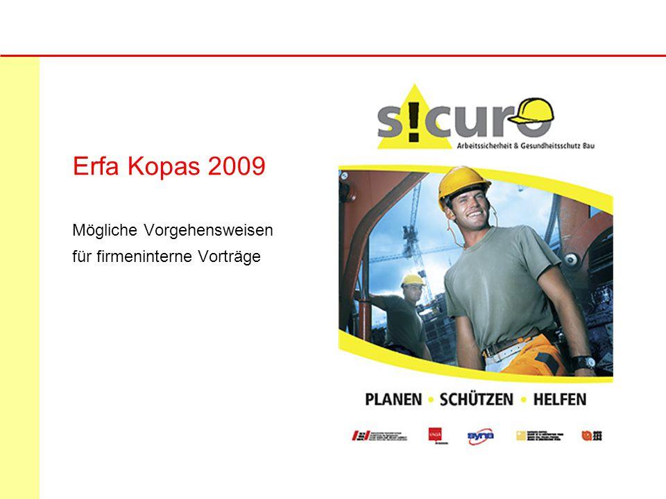 Erfa Kopas 2009 Mögliche Vorgehensweisen für firmeninterne Vorträge