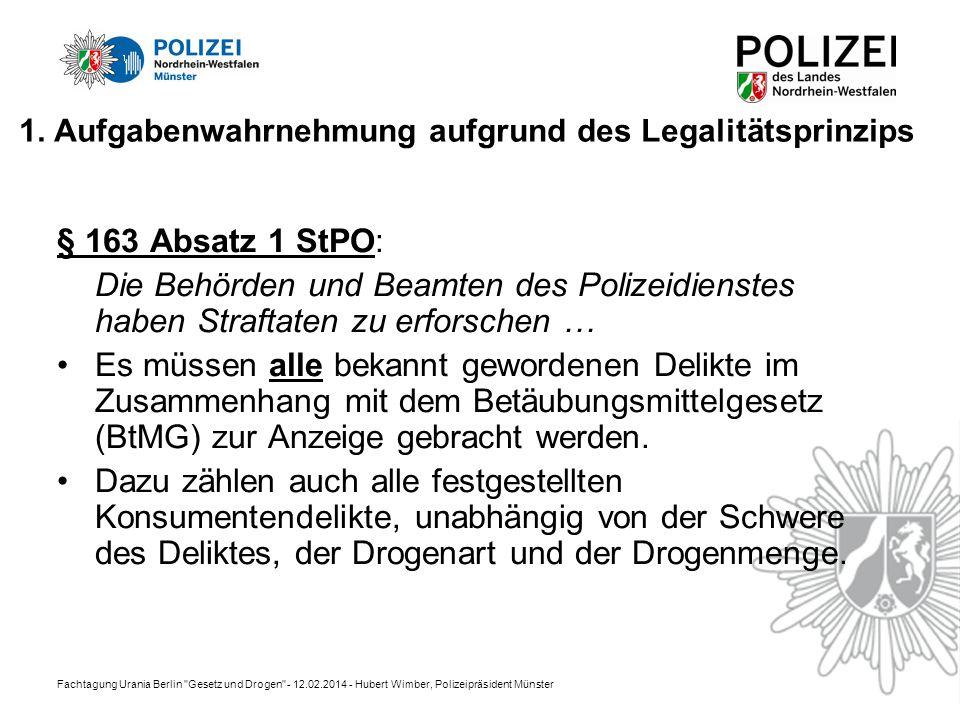 Fachtagung Urania Berlin Gesetz und Drogen - 12.02.2014 - Hubert Wimber, Polizeipräsident Münster 1.