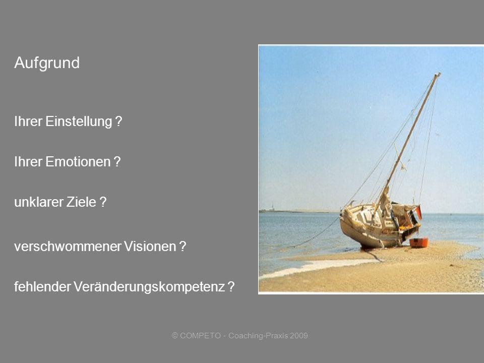 © COMPETO - Coaching-Praxis 2009 Aufgrund fehlender Veränderungskompetenz .
