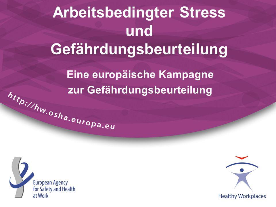 Arbeitsbedingter Stress - ein wichtiges Thema Stress ist das am zweithäufigsten gemeldete arbeitsbedingte Gesundheitsproblem.