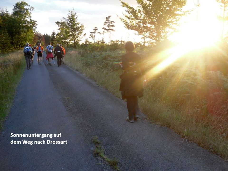 Sonnenuntergang auf dem Weg nach Drossart