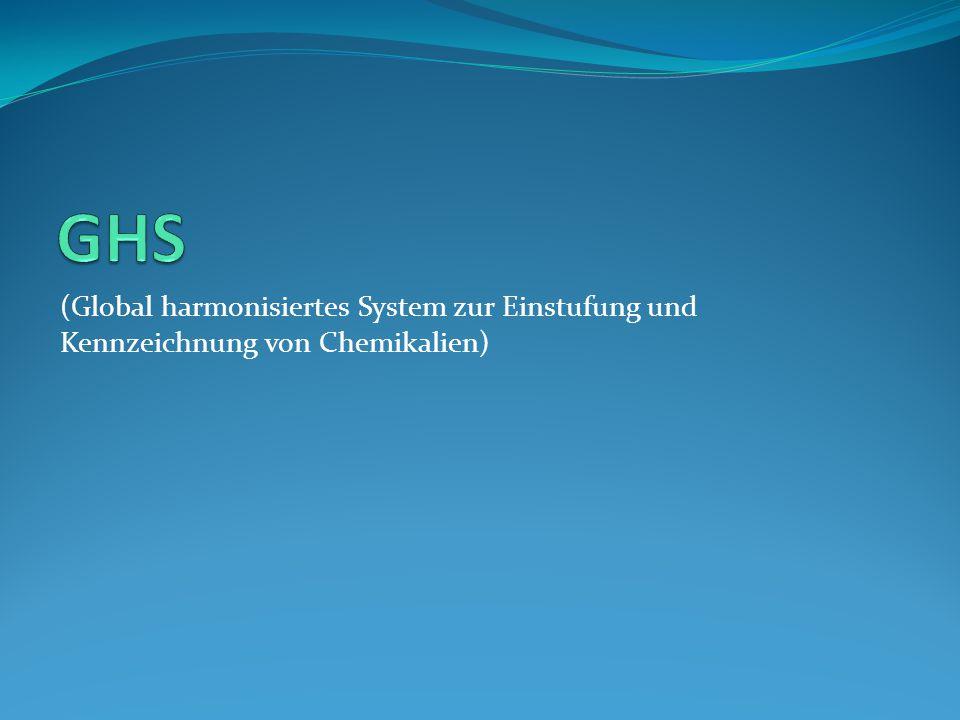 (Global harmonisiertes System zur Einstufung und Kennzeichnung von Chemikalien)