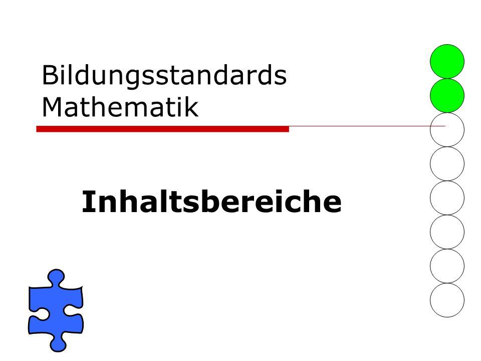 Bildungsstandards Mathematik Inhaltsbereiche