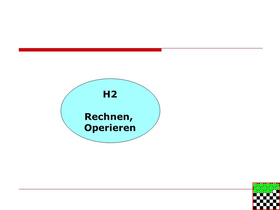 H2 Rechnen, Operieren