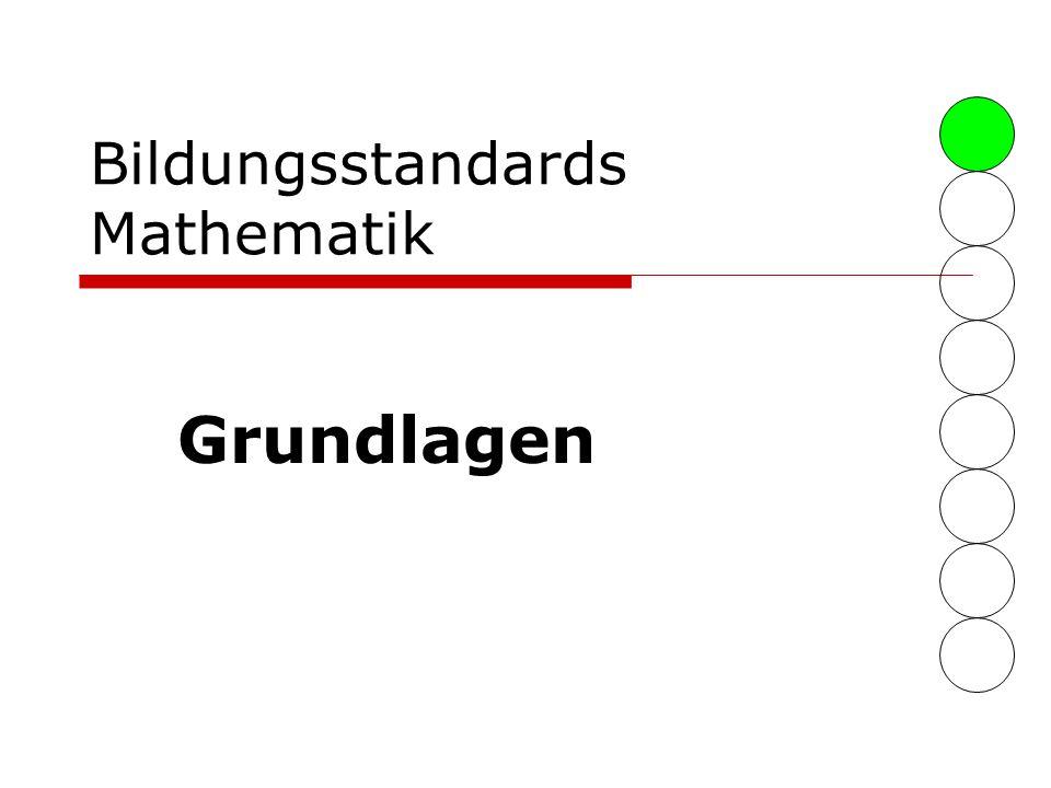 Bildungsstandards Mathematik Grundlagen