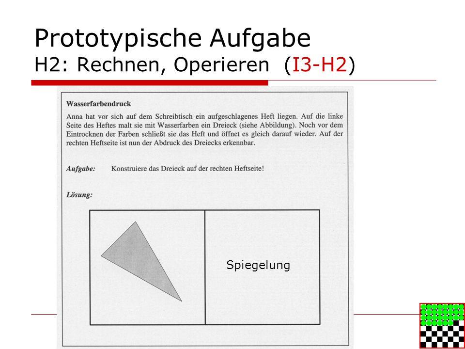 Prototypische Aufgabe H2: Rechnen, Operieren (I3-H2) Spiegelung