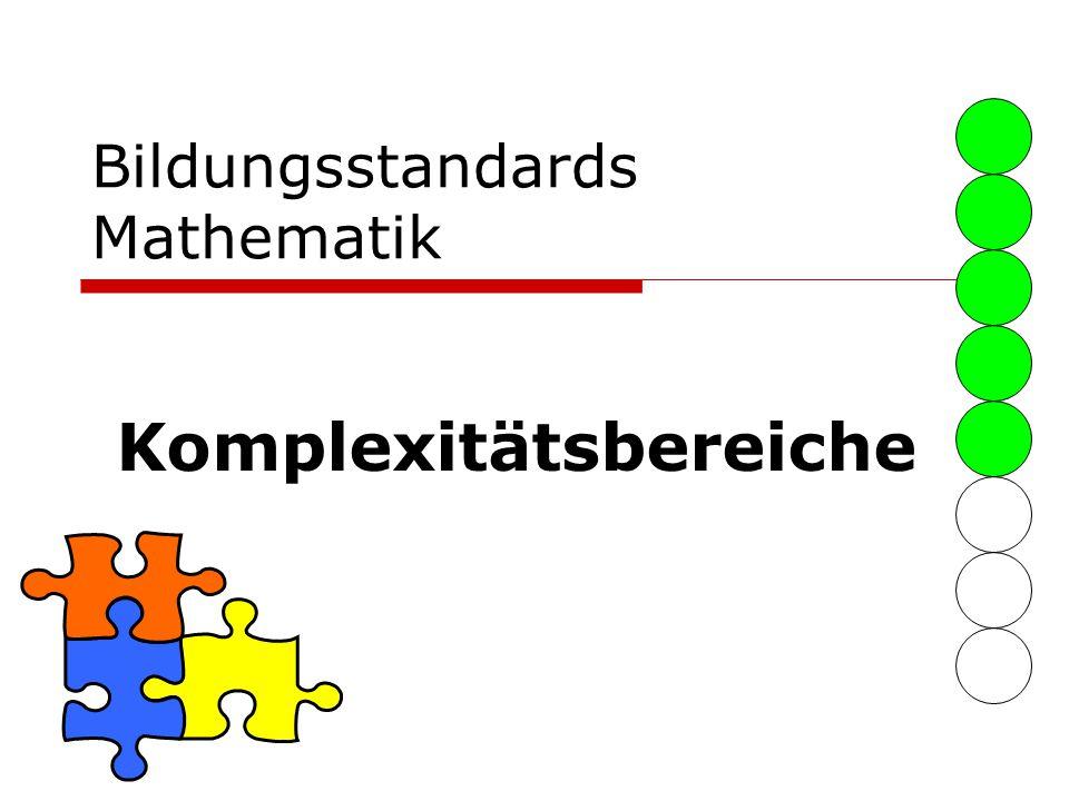 Bildungsstandards Mathematik Komplexitätsbereiche