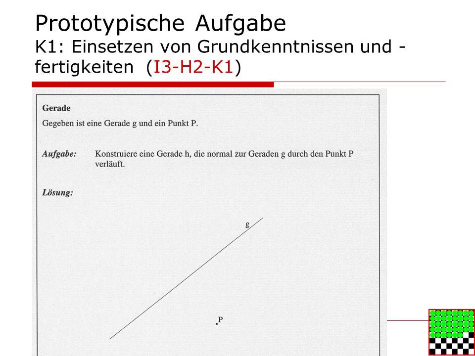 Prototypische Aufgabe K1: Einsetzen von Grundkenntnissen und - fertigkeiten (I3-H2-K1)