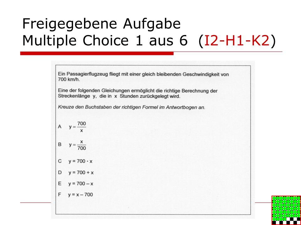 Freigegebene Aufgabe Multiple Choice 1 aus 6 (I2-H1-K2)