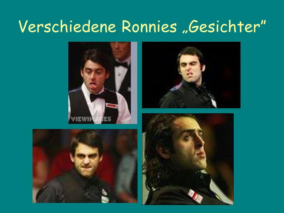 Verschiedene Ronnies Gesichter