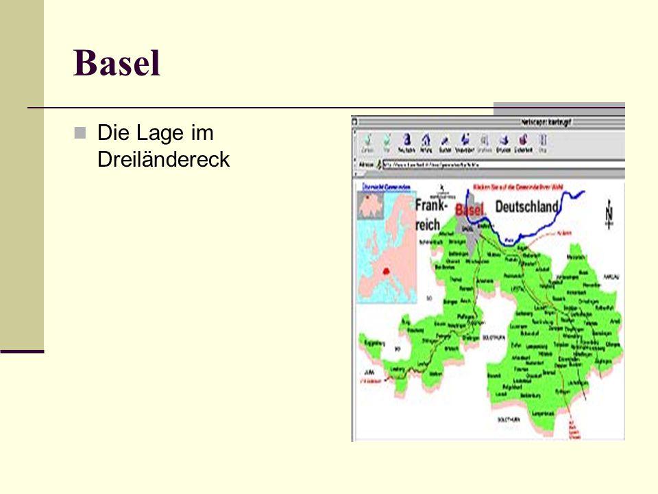 Das Dreiländereck Basel ist eine Stadt im Dreiländereck.