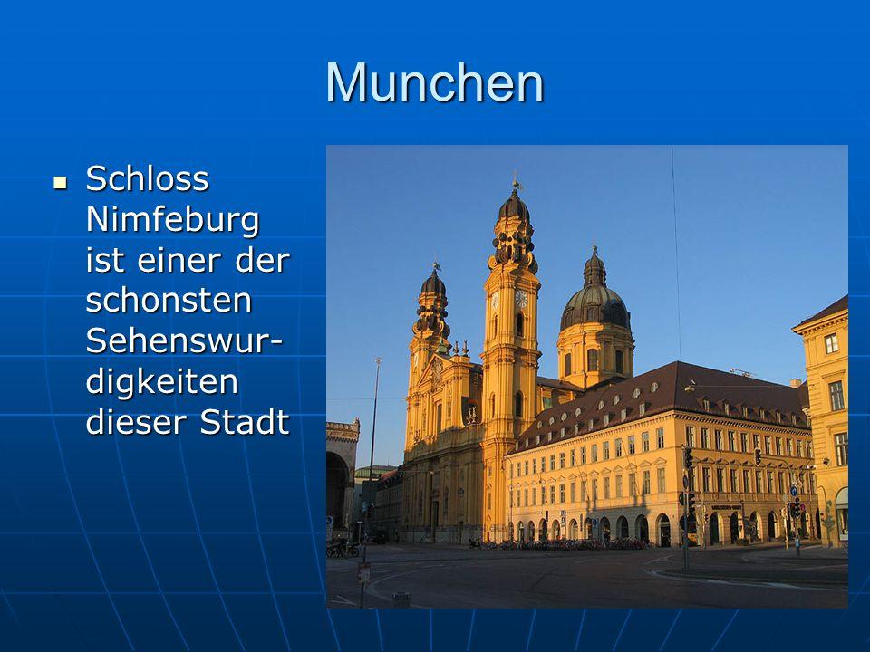 Munchen Schloss Nimfeburg ist einer der schonsten Sehenswur- digkeiten dieser Stadt Schloss Nimfeburg ist einer der schonsten Sehenswur- digkeiten die