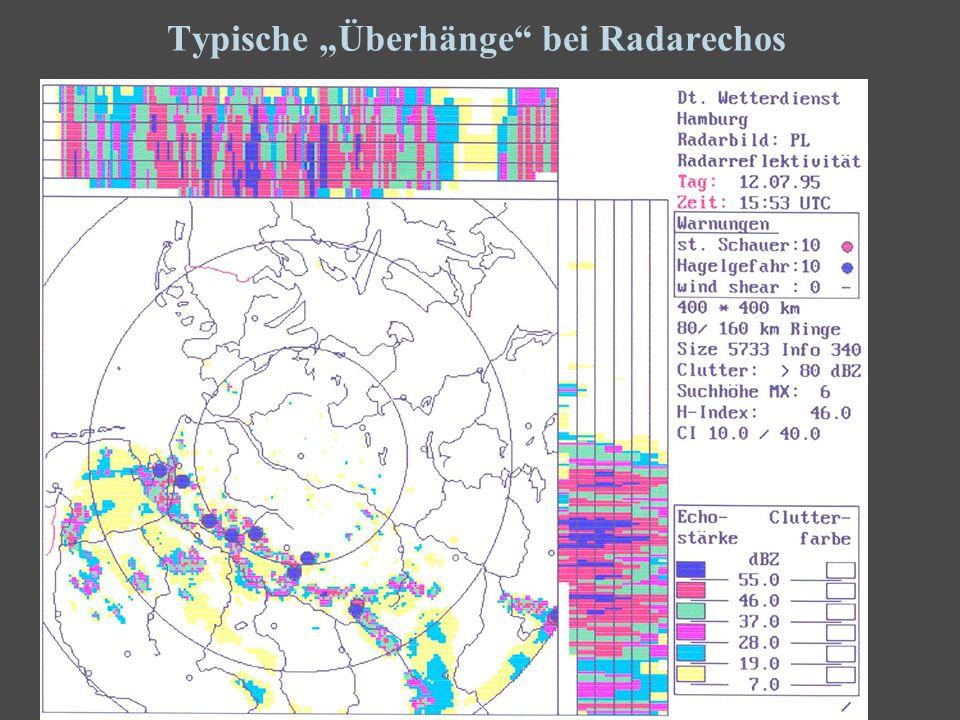 8 Typische Überhänge bei Radarechos