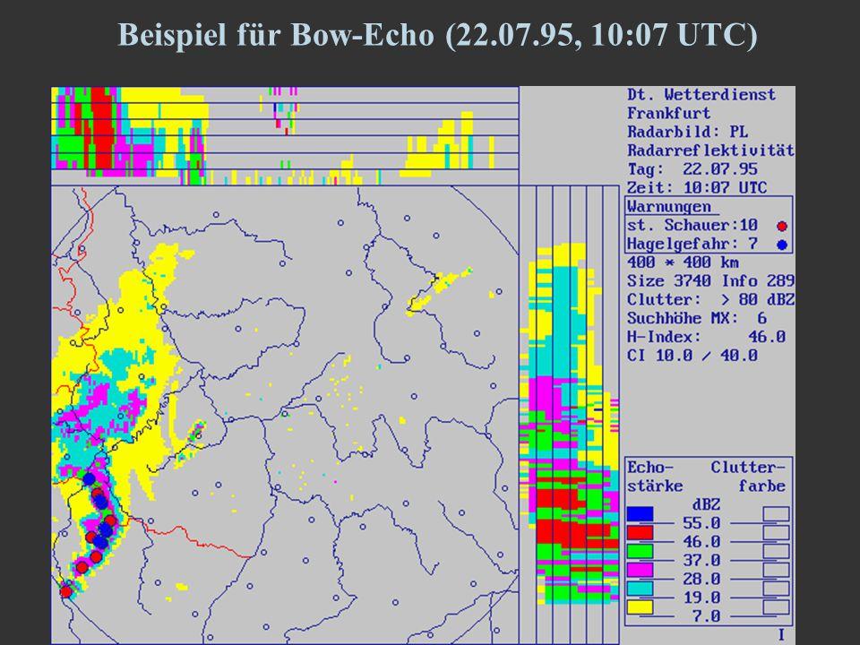 10 Beispiel für Bow-Echo (22.07.95, 10:07 UTC)