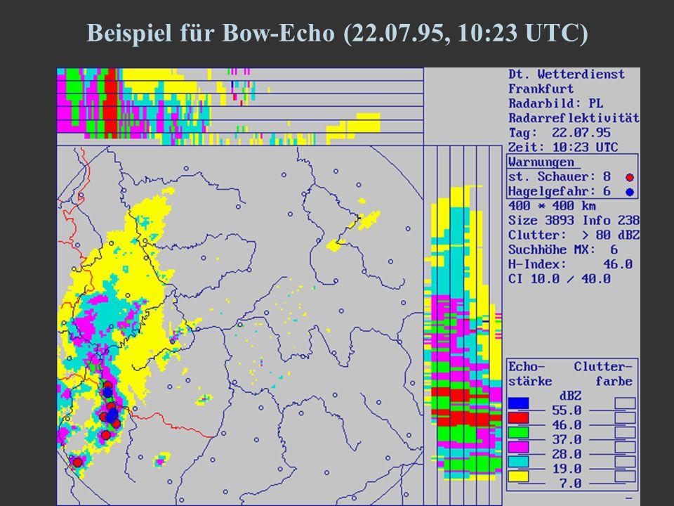 11 Beispiel für Bow-Echo (22.07.95, 10:23 UTC)