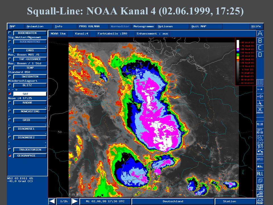 14 Squall-Line: NOAA Kanal 4 (02.06.1999, 17:25)