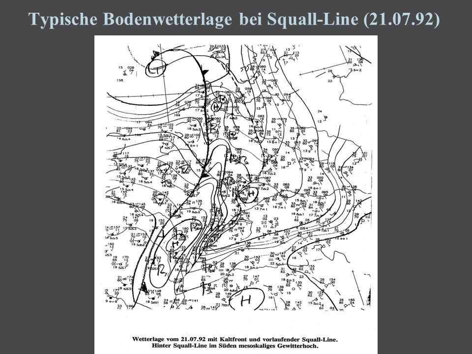 3 Typische Bodenwetterlage bei Squall-Line (21.07.92)
