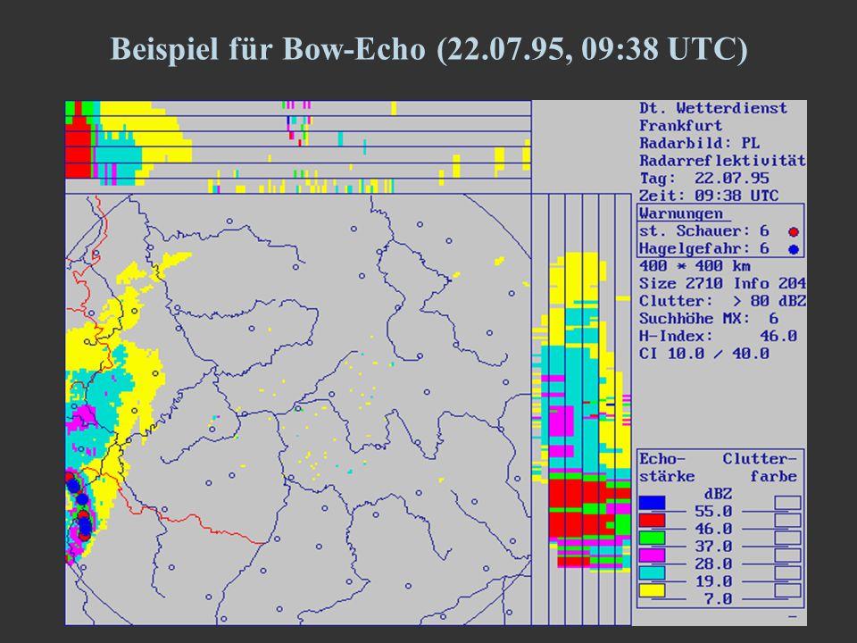 8 Beispiel für Bow-Echo (22.07.95, 09:38 UTC)
