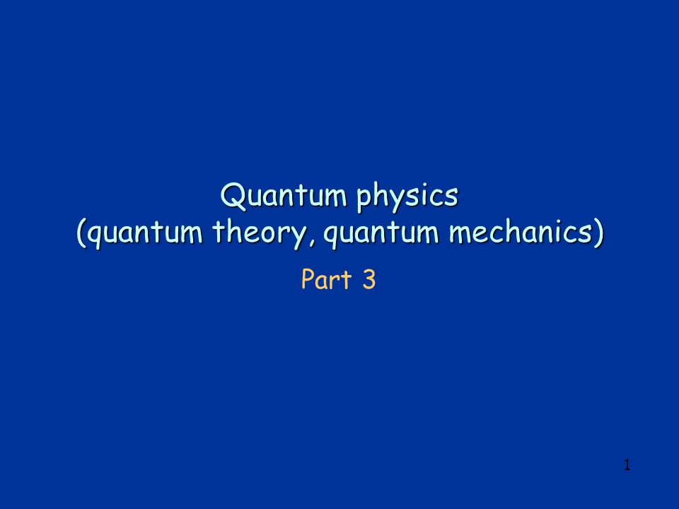 2 Summary of 2 nd lecture classical physics explanation of black-body radiation failed Plancks ad-hoc assumption of energy quanta of energy E quantum = h, modifying Wiens radiation law, leads to a radiation spectrum which agrees with experiment.
