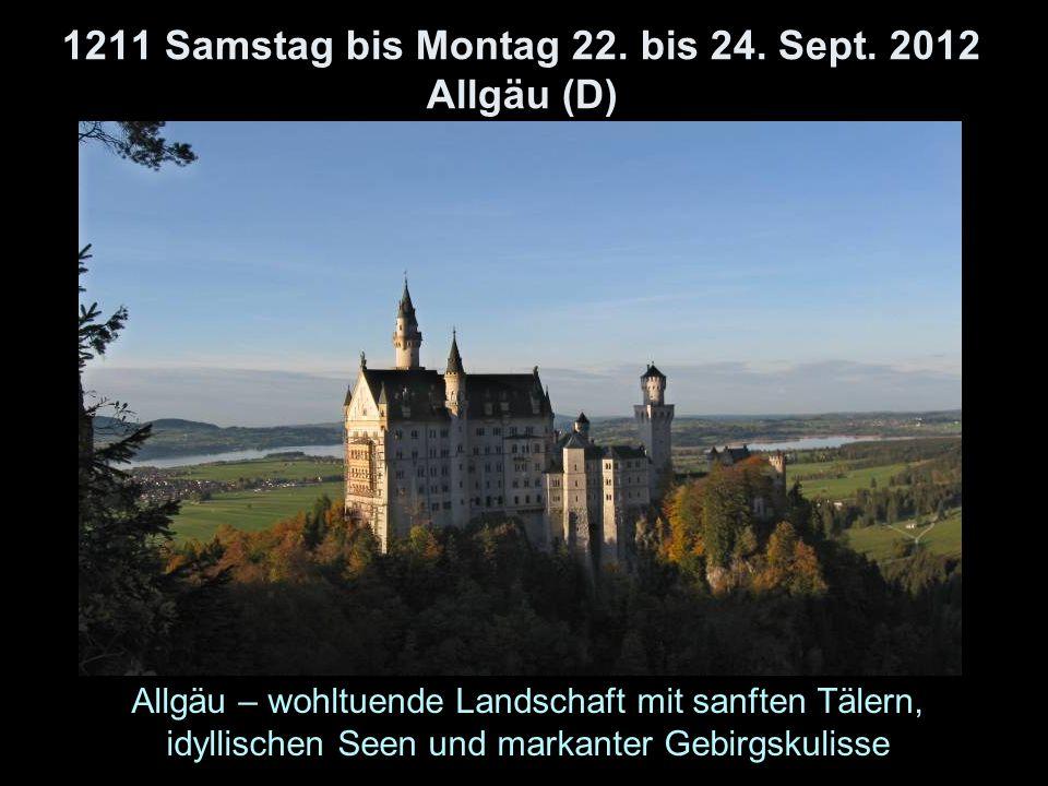 1211 Samstag bis Montag 22. bis 24. Sept.
