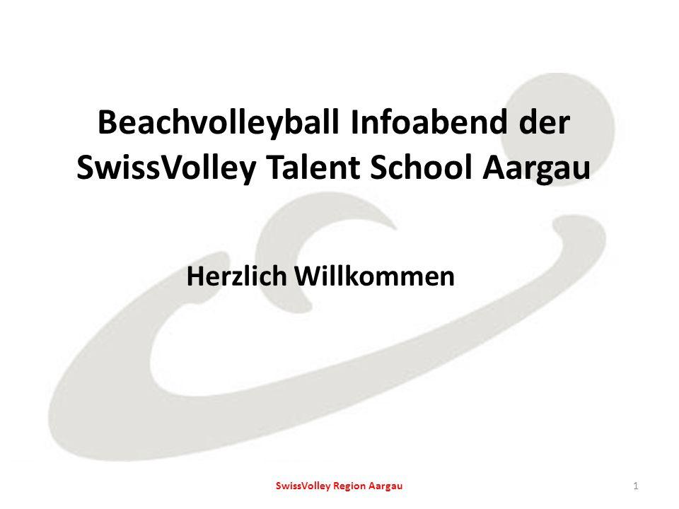 Beachvolleyball Infoabend der SwissVolley Talent School Aargau Herzlich Willkommen 1SwissVolley Region Aargau