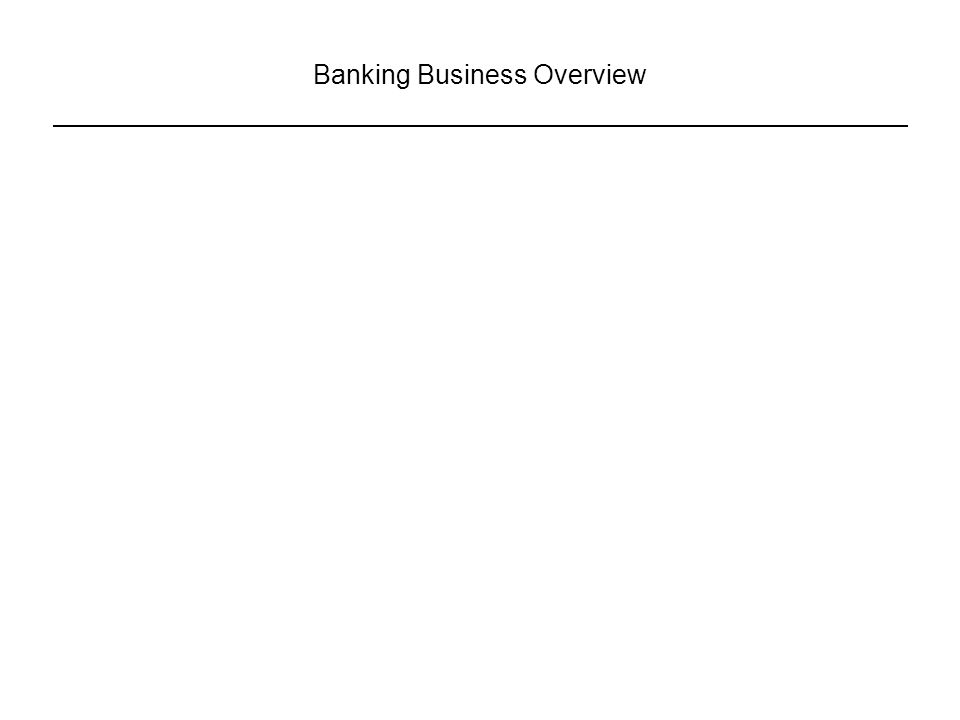 Banking Business Overview
