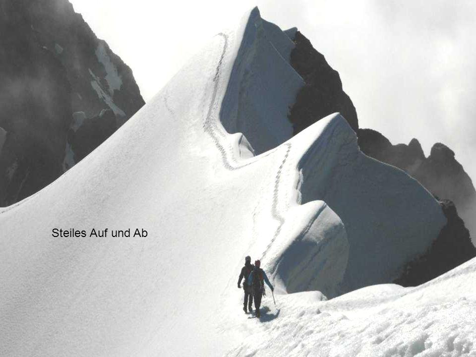 In 3 Std passieren wir den Gipfel Wyssi Frau 3650m zum Blüemlisalphorn 3663m.