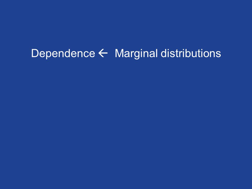 Dependence Marginal distributions