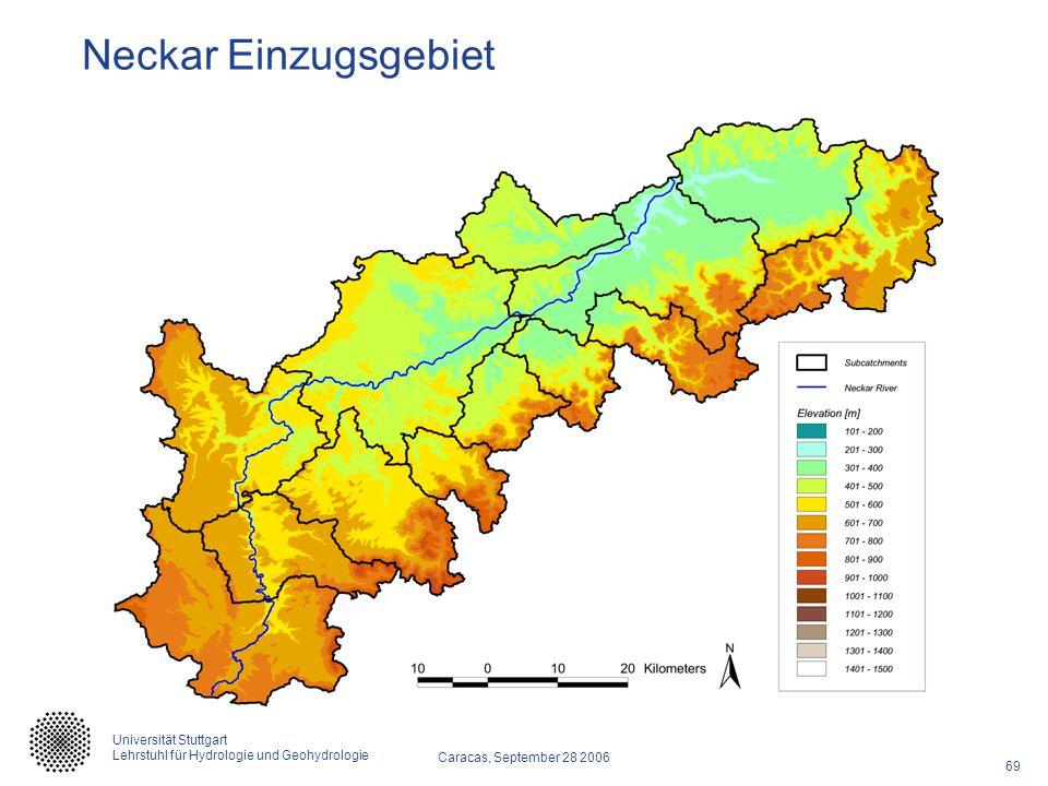 69 Caracas, September 28 2006 Universität Stuttgart Lehrstuhl für Hydrologie und Geohydrologie Neckar Einzugsgebiet