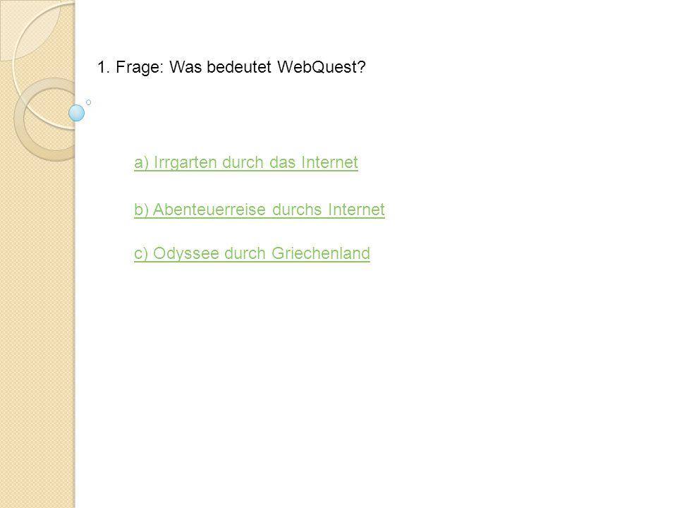 Kontrolltool Zum Thema WebQuest Hier klicken um zu Beginnenklicken