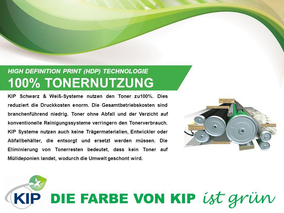 DIE FARBE VON KIP ist grün INDUKTIONSERHITZUNGS(IH)-FIXIERTECHNOLOGIE KIP nutzt Induktionserhitzungstechnologie, um beim Fixieren Energie zu sparen.