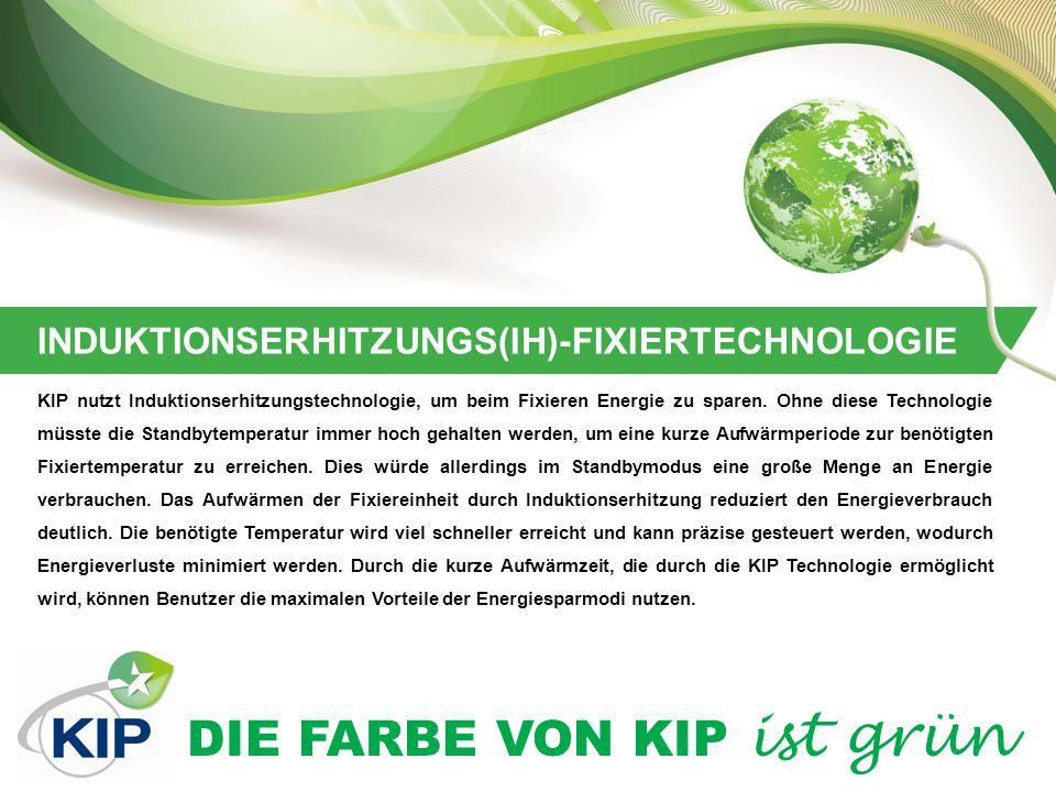 DIE FARBE VON KIP ist grün LOW TEC WERT (TYPISCHER ENERGIEVERBRAUCH) Mit jeder neuen Produktentwicklung ist KIP bestrebt, nicht nur die neuesten Umweltvorschriften einzuhalten, sondern sogar unter den empfohlenen Werten zu bleiben.