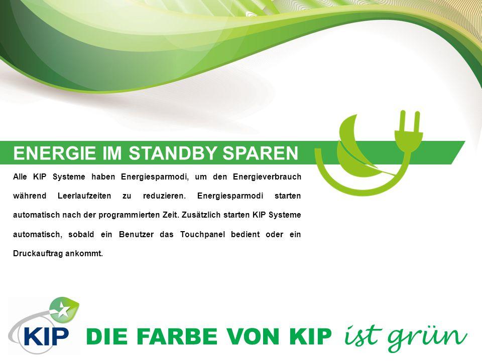 DIE FARBE VON KIP ist grün LÄNGERE LEBENSDAUER VON ERSATZTEILEN KIP Produkte bieten für die meisten Modelle separate, individuelle Ersatzteile.