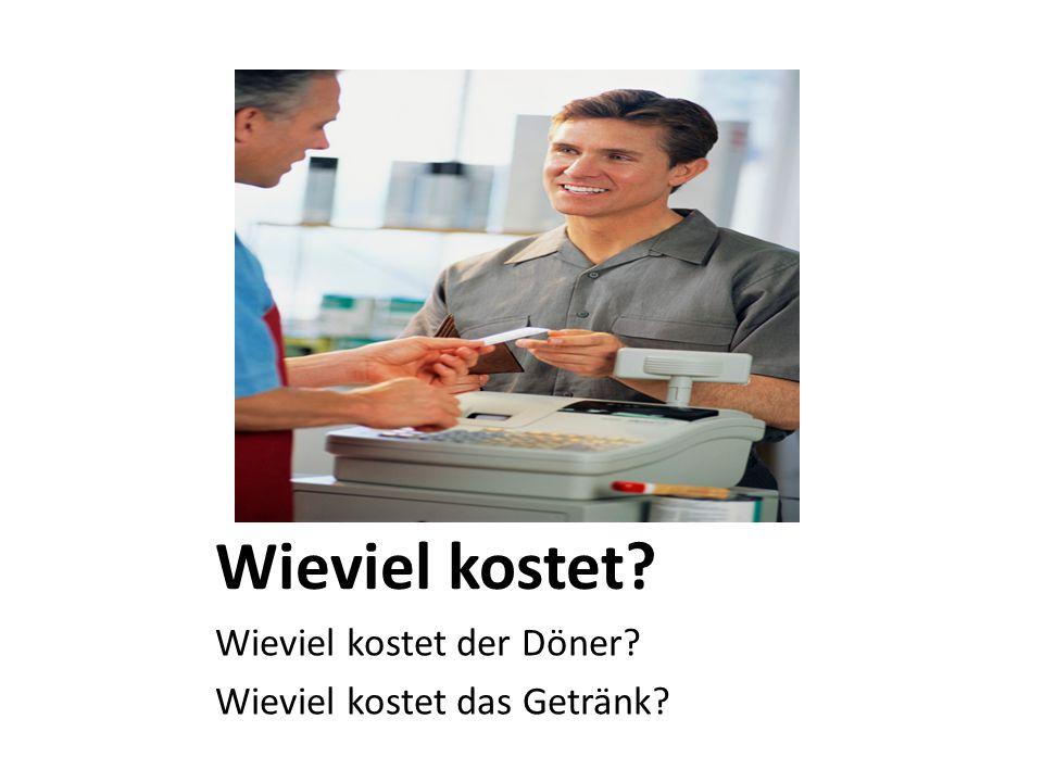 Possible questions: Deutsch Was für deutsches Essen haben Sie.