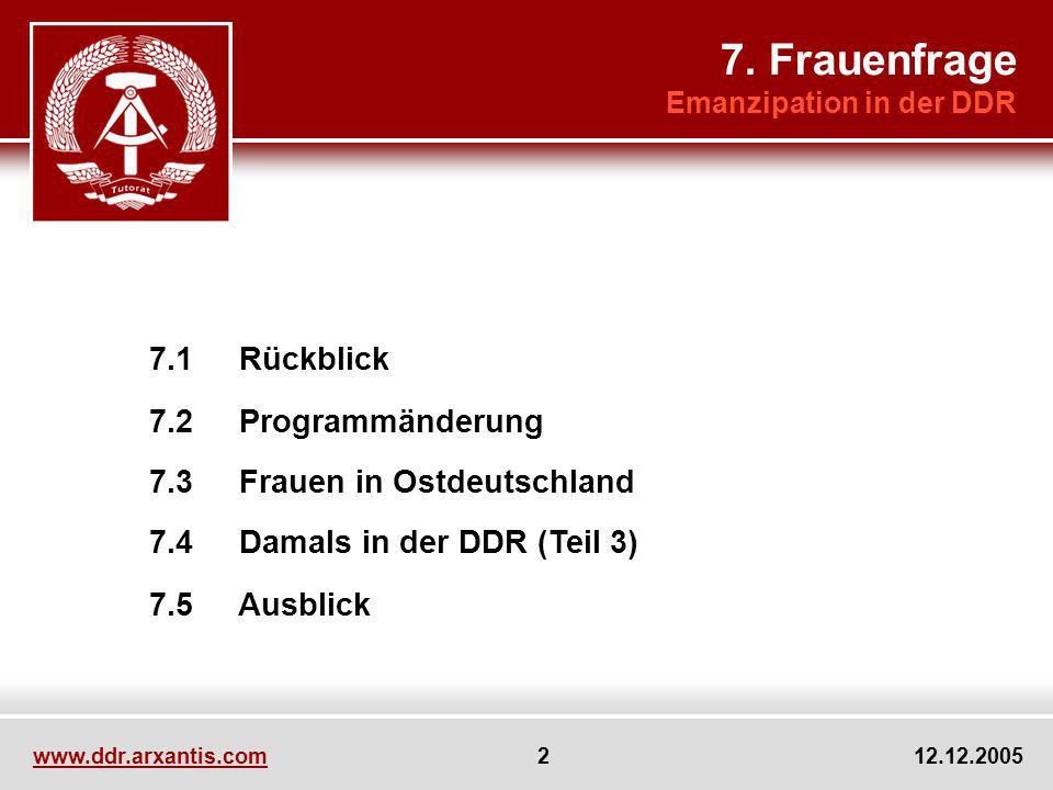 www.ddr.arxantis.com 3 12.12.2005 Reader IV Freizeit allgemein und in der DDR Diskussion über Kollegialität vs.