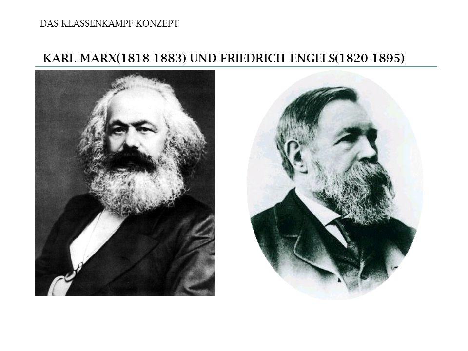 DAS KLASSENKAMPF-KONZEPT KARL MARX(1818-1883) UND FRIEDRICH ENGELS(1820-1895)
