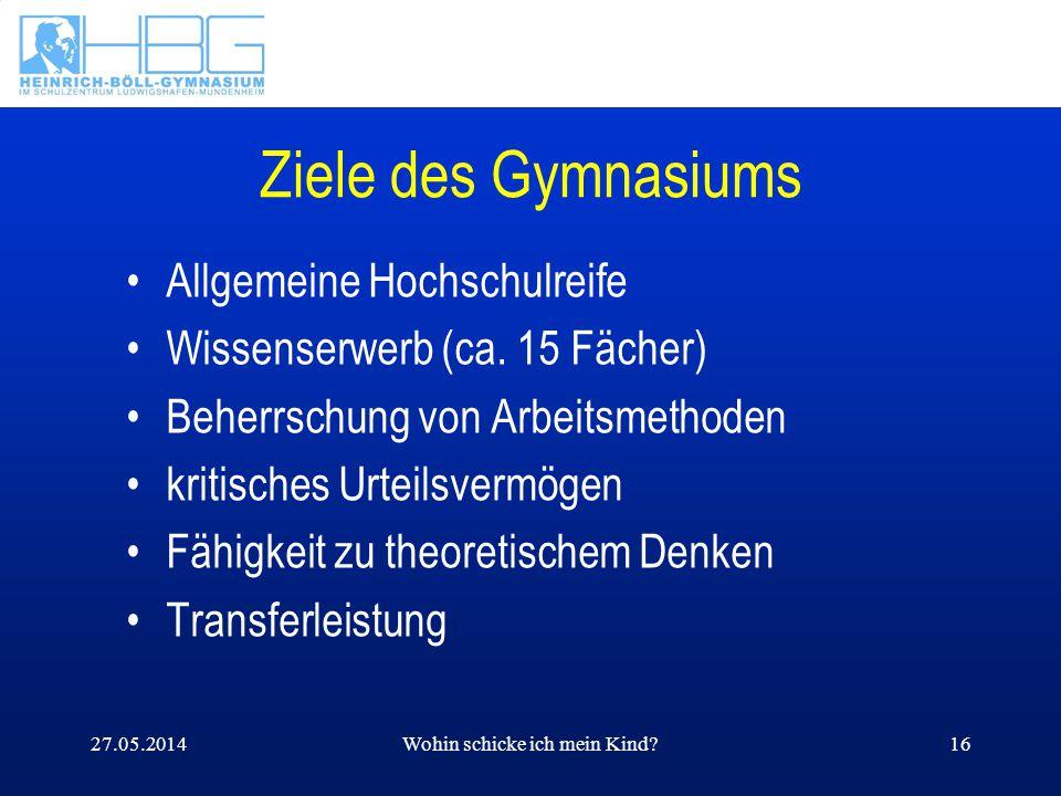 27.05.2014Wohin schicke ich mein Kind?17 Voraussetzungen die deutsche Sprache beherrschen selbstständig arbeiten zügig arbeiten neugierig sein gerne lesen fleißig und ausdauernd sein