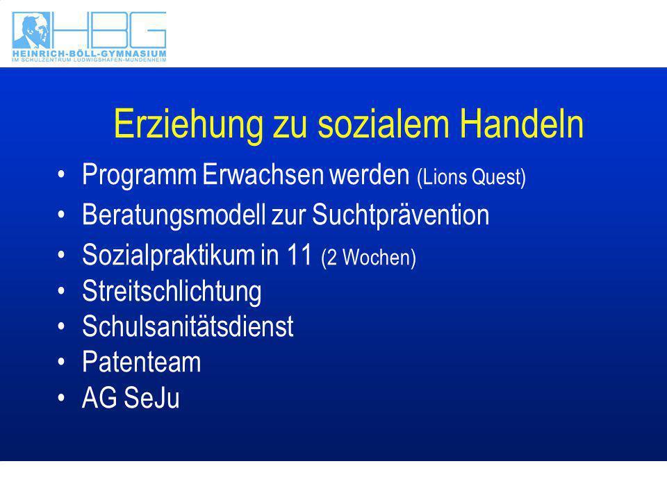 Berufsorientierung Betriebspraktikum in 9 (2 Wochen) Vermessungspraktikum in 10 Berufsinformation durch Beratungslehrer und der Bundesagentur für Arbeit BOSS-Tag & Berufsinformationstag in 12 Bewerbungstraining in 9 und 12 (BASF)