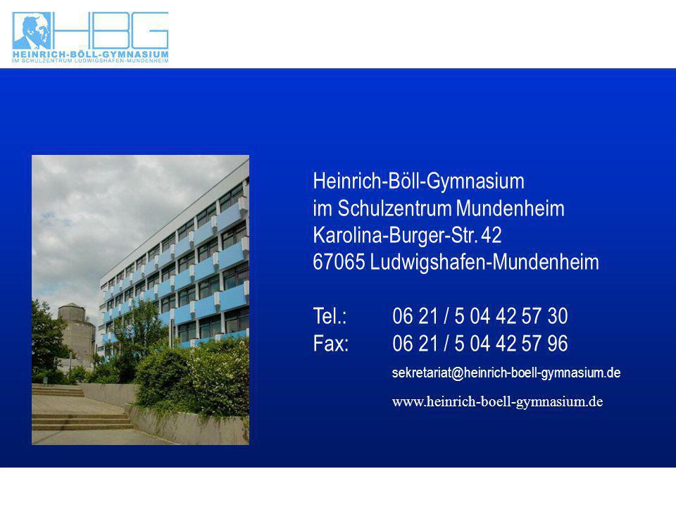 Text Heinrich-Böll-Gymnasium im Schulzentrum Mundenheim Karolina-Burger-Str.