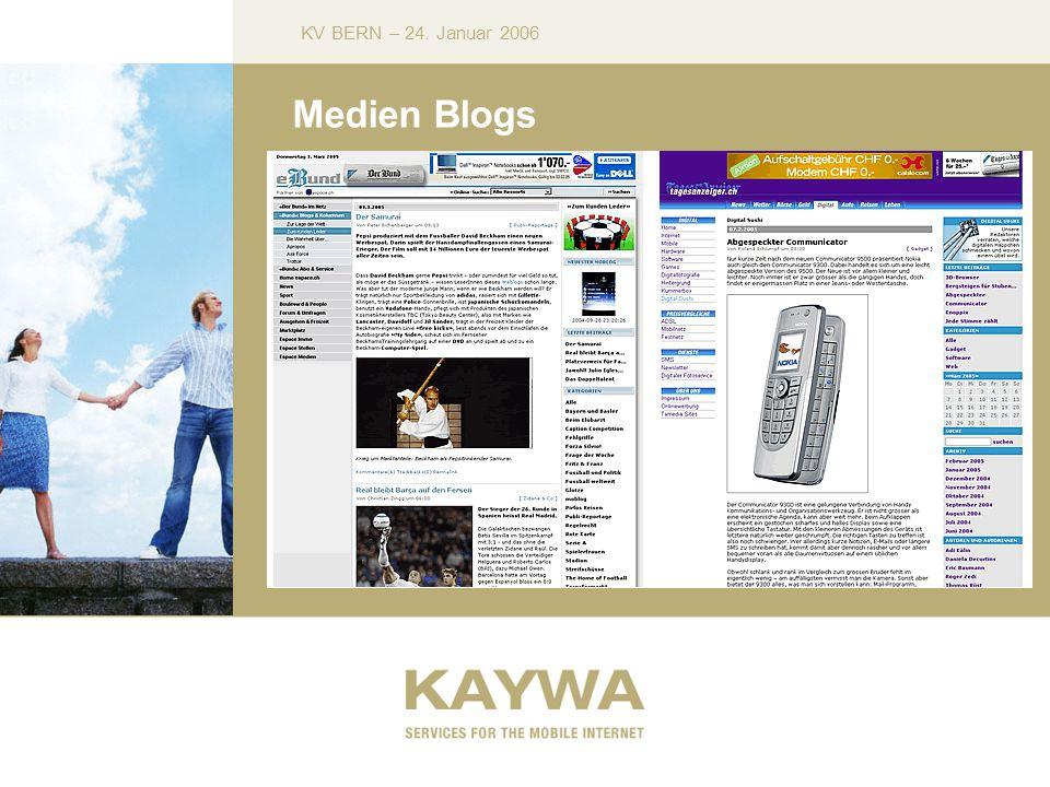 KV BERN – 24. Januar 2006 Medien Blogs