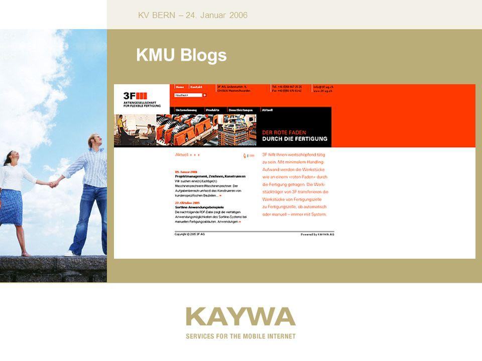 KV BERN – 24. Januar 2006 KMU Blogs