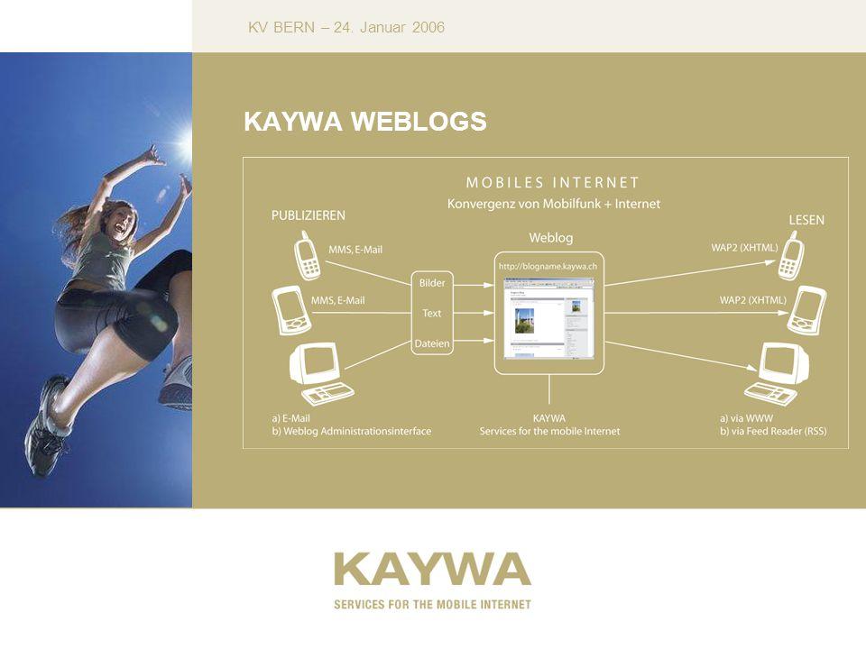 KV BERN – 24. Januar 2006 KAYWA WEBLOGS