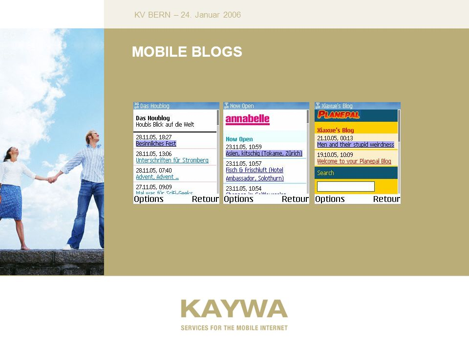 KV BERN – 24. Januar 2006 MOBILE BLOGS